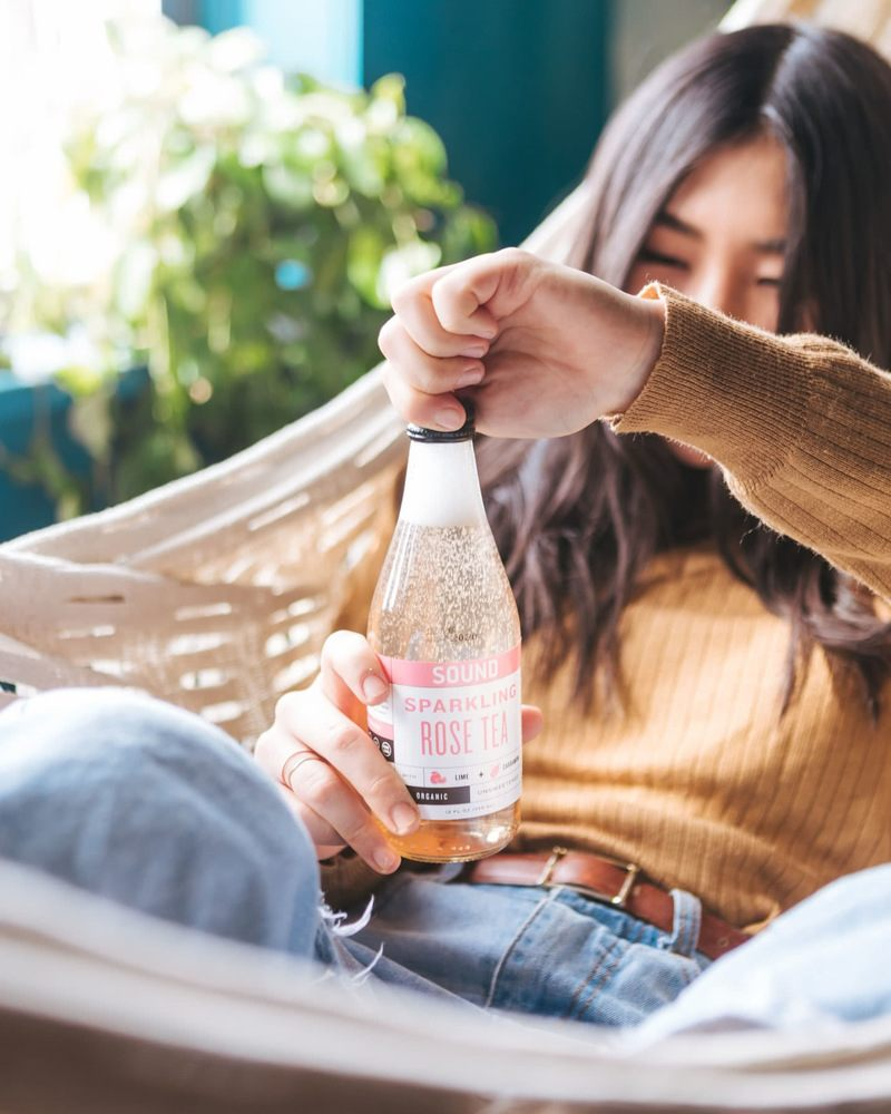 Plain sparkling water without any harmful additives
